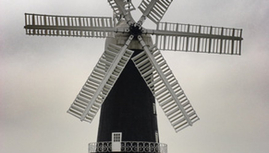 Windmills offer inspiration for educational crafts for children.