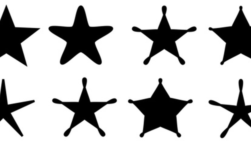 Fonts with stars are available as decorative type and with letters and numbers.