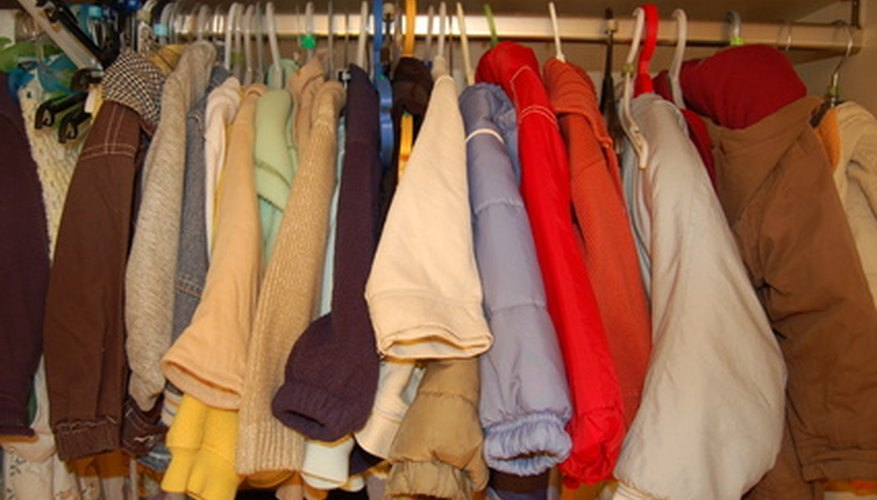 Wardrobes and armoires provide extra space for seasonal clothing.