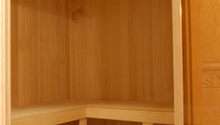 Sauna benches are best when constructed to leave 42 to 48 inches of headroom.