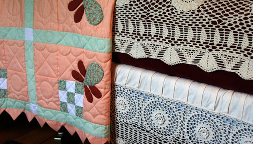 Adding applique to quilts is quick with a sewing machine.