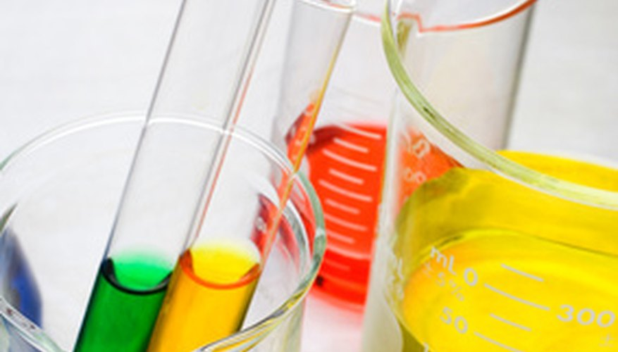 Beakers can safely hold the ammonia and glycerin mixture.