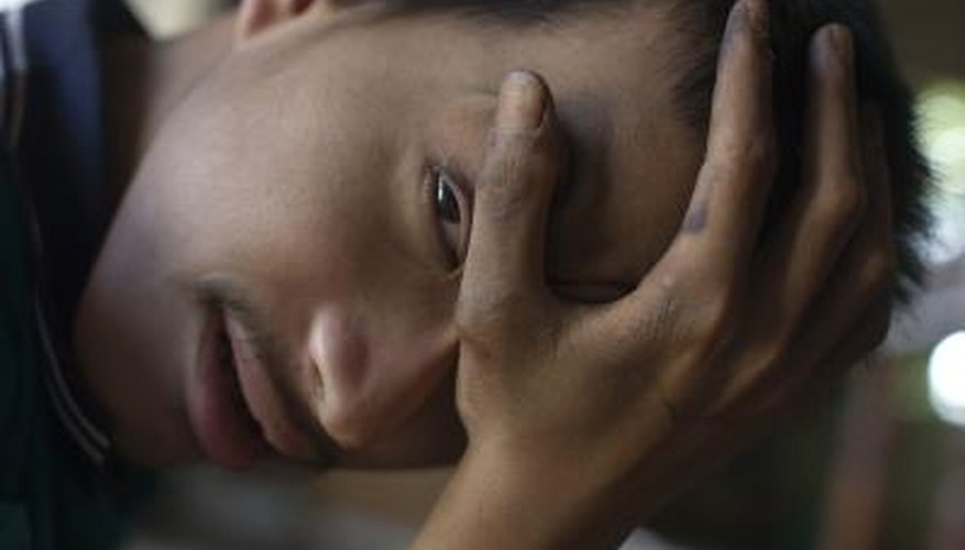 Vietnamese man suffering from severe disabilities due to exposure to dioxins.