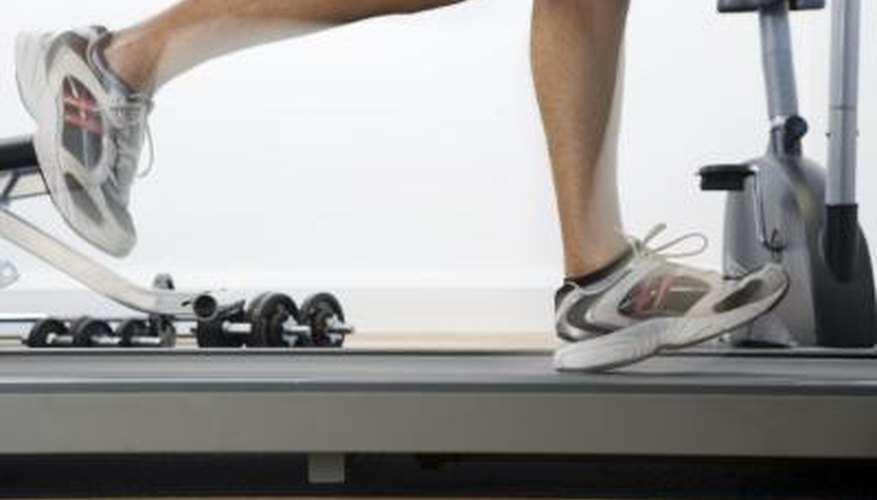 A runner using a treadmill may experience overuse injuries