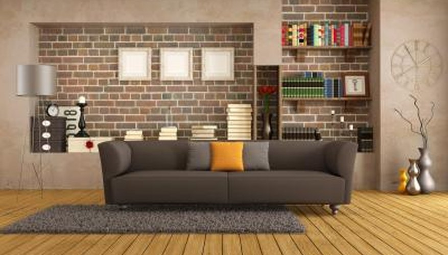 Brown furniture goes well with a brick home.