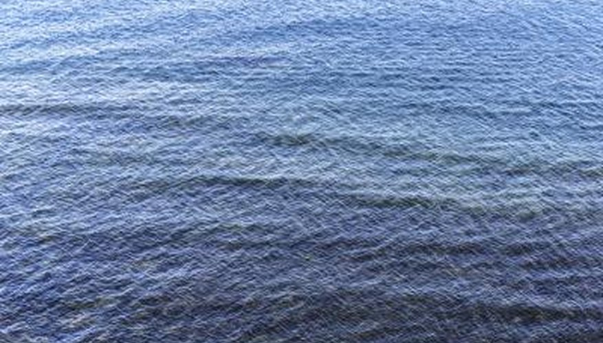 Most of the earth's surface is water.