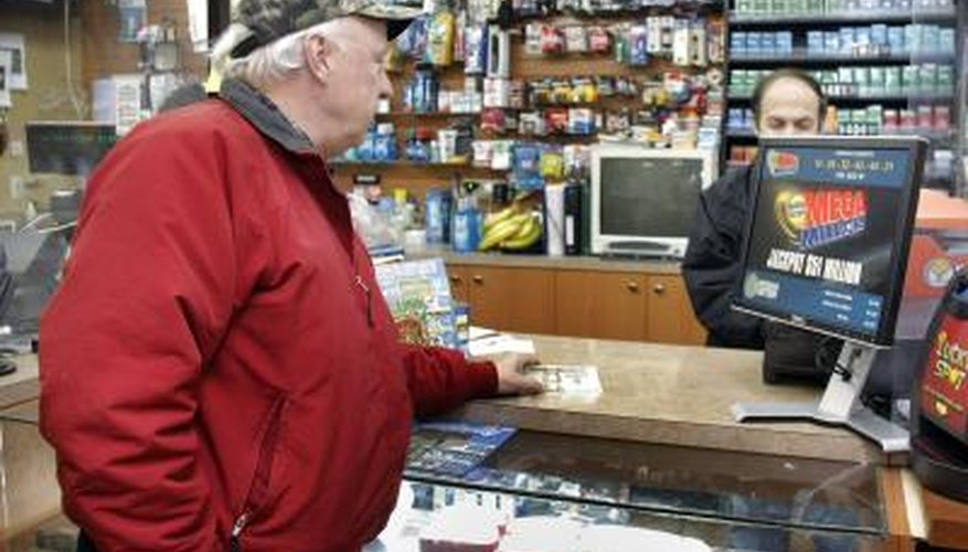 Man buying lottery ticket in Warren, Michigan