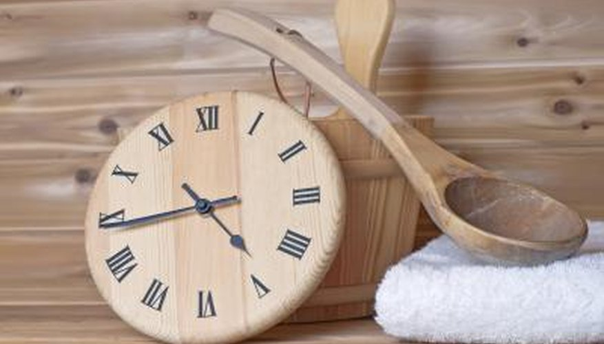 clock in sauna