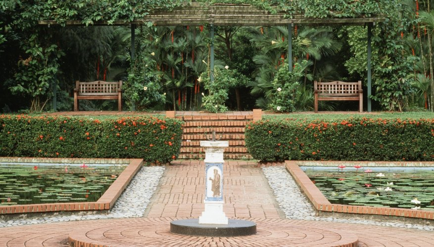 Brick pathways are more traditional and can be formal.