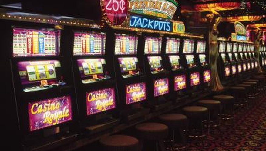 Slot machines inside casino