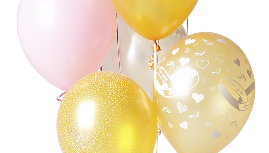 Decorate using more than balloons for a birthday party.