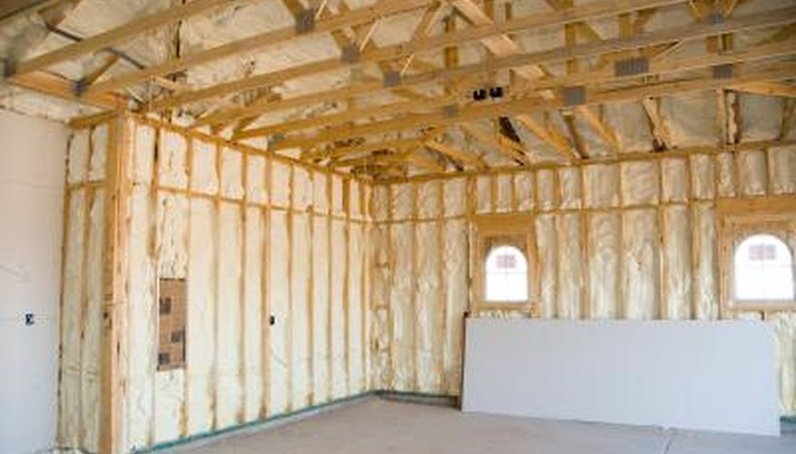 Home with spray foam insulation