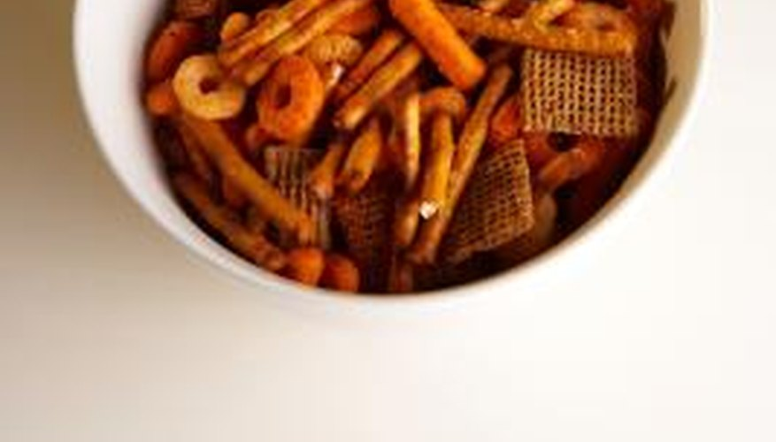 bag up snack mix to sell