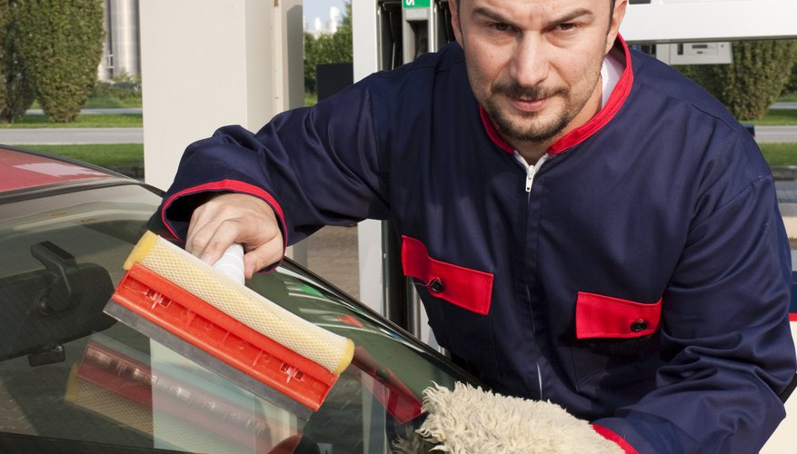 Take a window-cleaning lesson from your service station attendant.