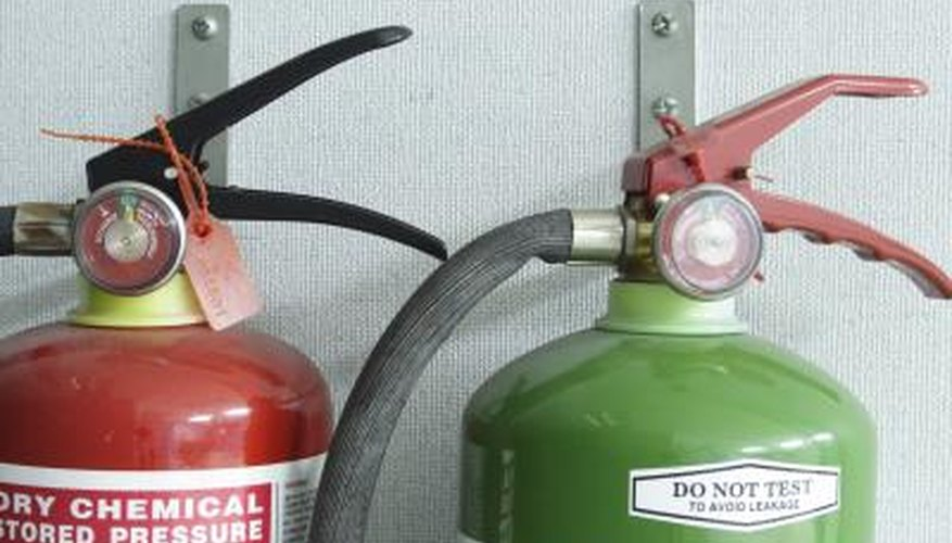 The halon compounds used to extinguish fires are named with numbers designed by the U.S. Army Corps of Engineers and are halon 1011, 1202, 1211, 1301 and 2402. Each compound has its own set of health risks and extinguishers may have different concentrations of halon.