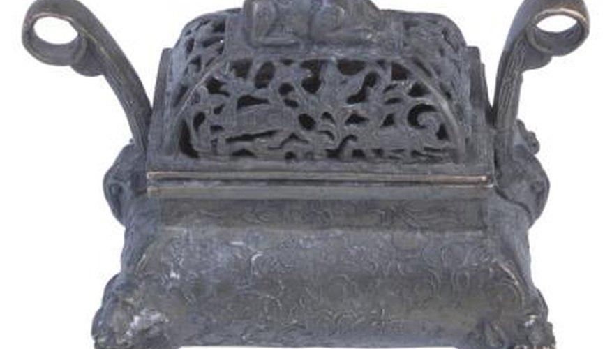 An antique cast iron stove can serve as a fire pit.