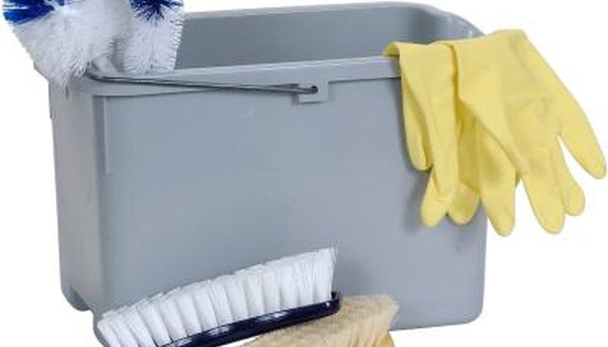 A cleaning caddy makes cleaning easier because your tools are all in one place.