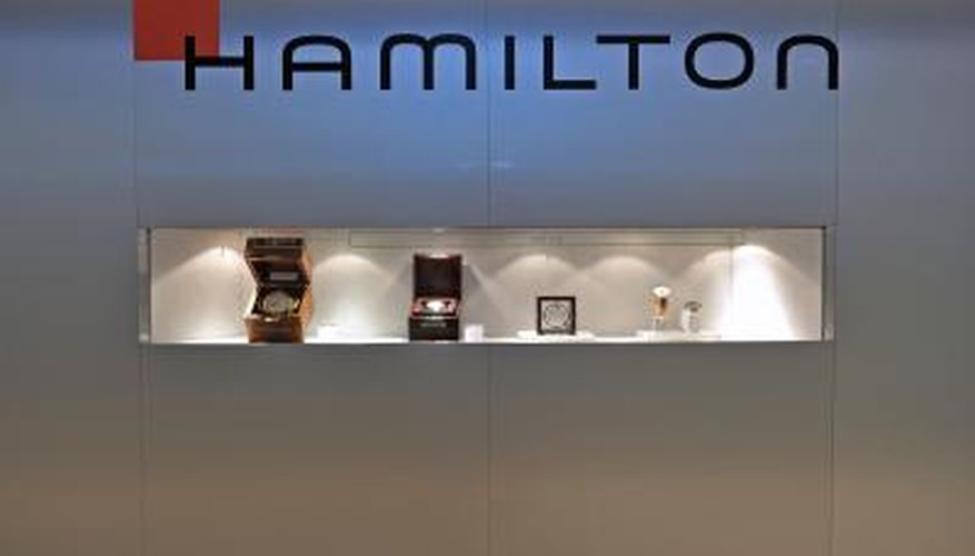 Hamilton watch booth at BASELWORLD expo