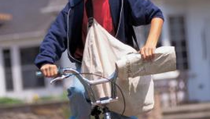 Deliver newspapers by bike is an option.