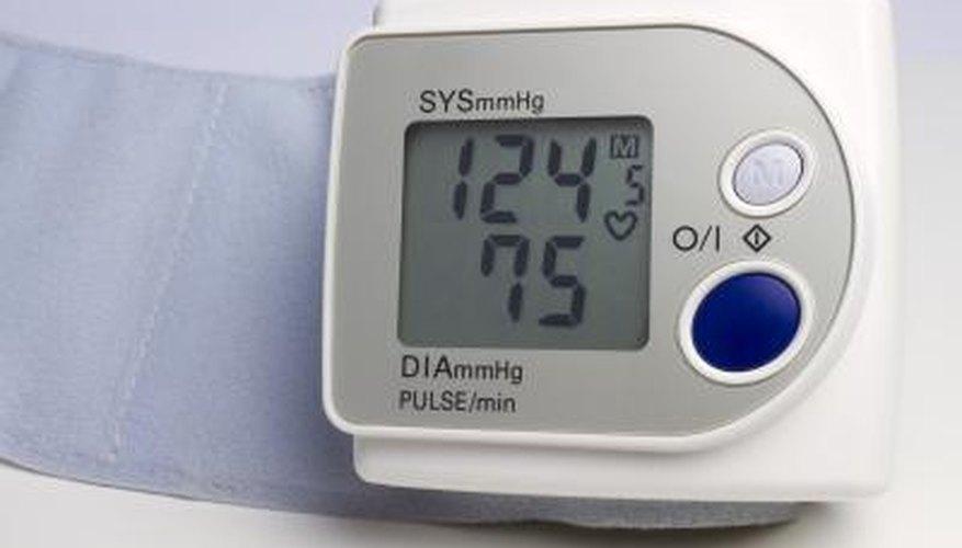 Digital wrist blood pressure gauge.