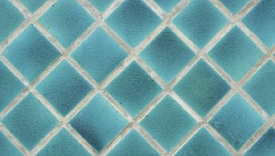 Glazed tiles help prevent mildew.