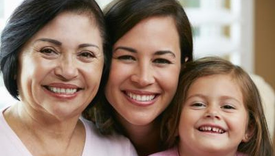A portrait of a mother, daughter and grandmother.