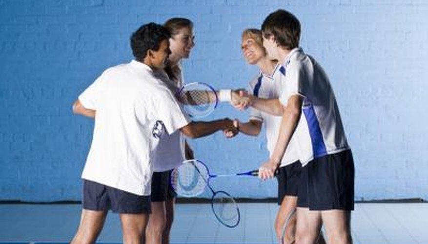 Badminton players.