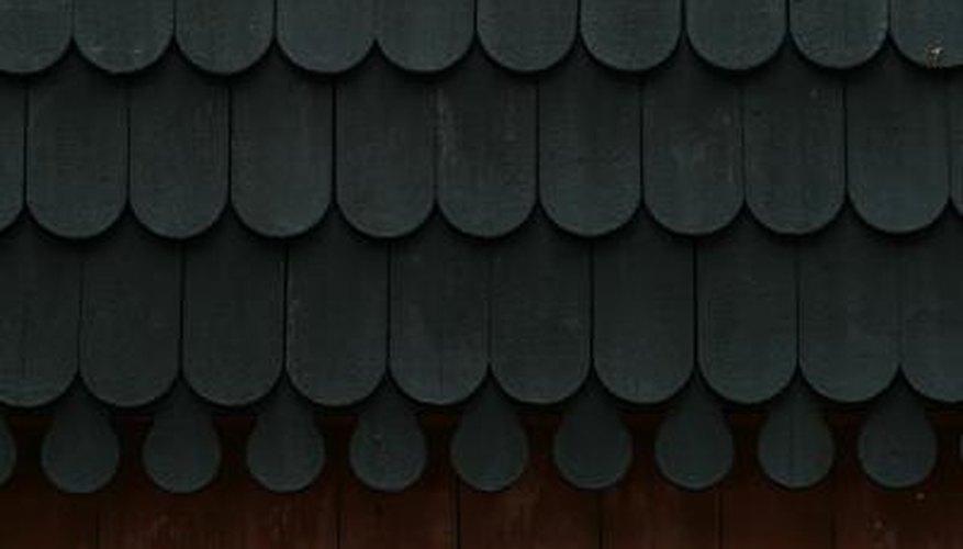 Slate tiles.