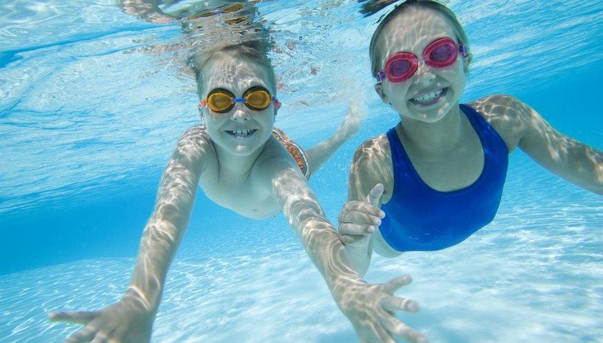 Always swim in pairs.