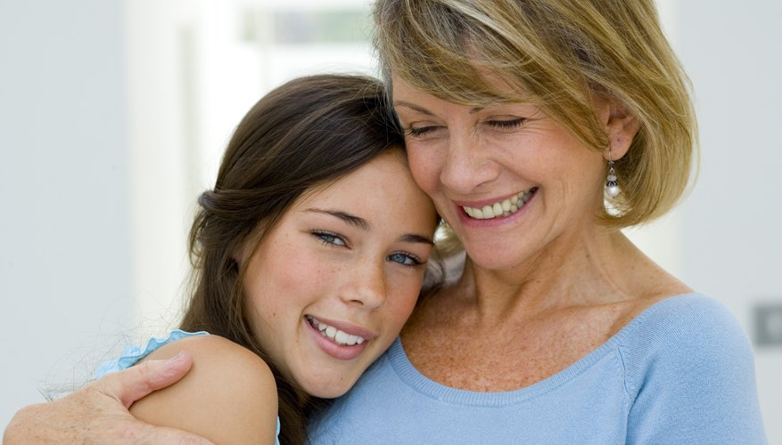 An older parent's stronger sense of self can help in raising a child, especially during the teen years.