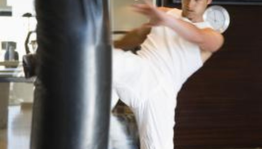 Many kicking techniques are essential to winning an MMA competition.
