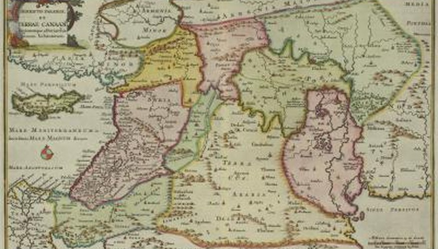 Antique map of the Middle East.