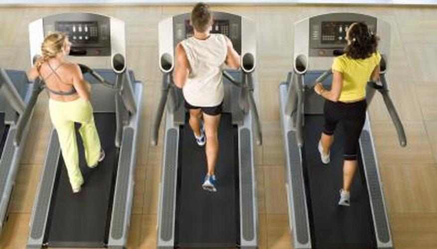 people on treadmills at gym