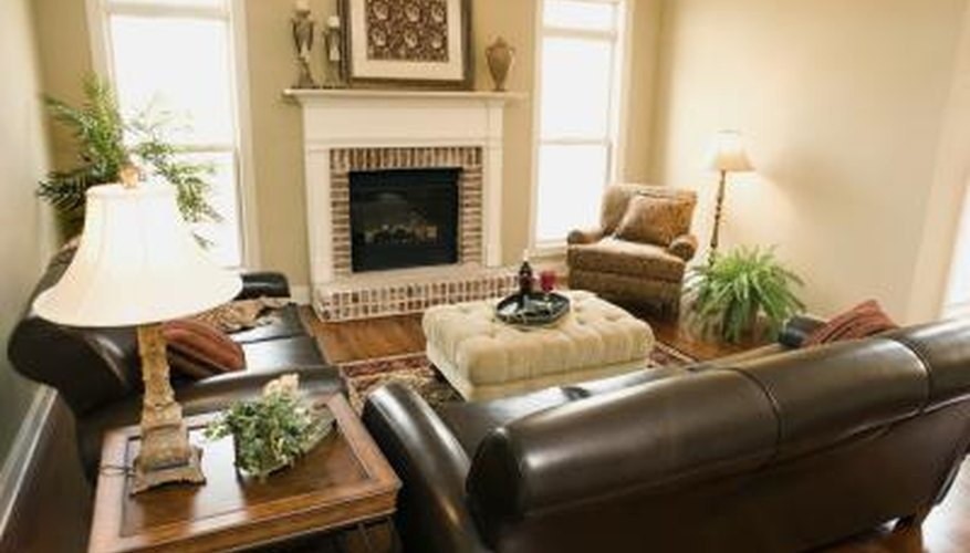 Use The Rest Of The Room To Balance The Huge Impact Leather Sofas Have On  Your Living Room Decor. Include A Chair Or Ottoman Made Of A Different  Fabric In A ...