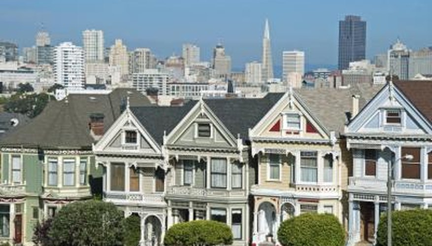 "The ""Painted Ladies"" in Alamo Square in San Francisco, CA."