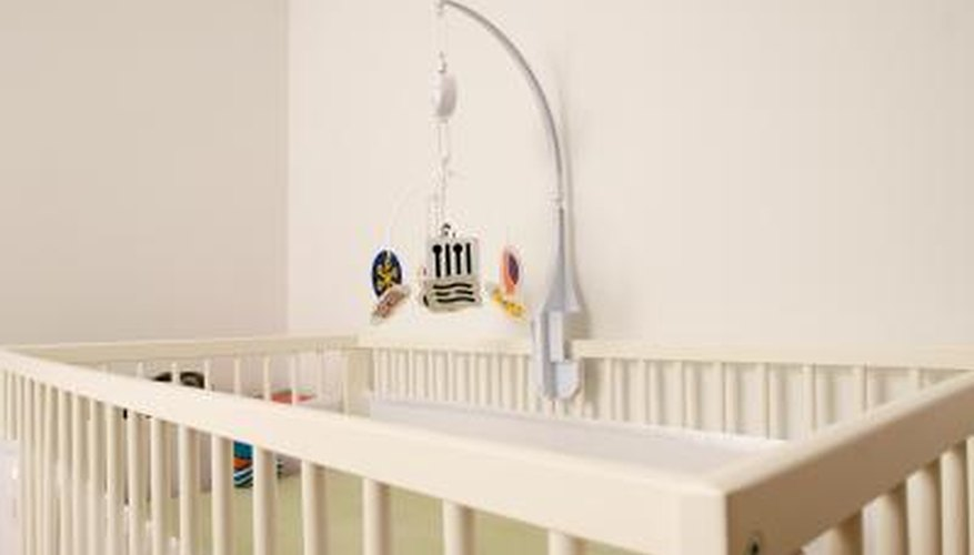 Ceiling fans will circulate the air in the nursery.