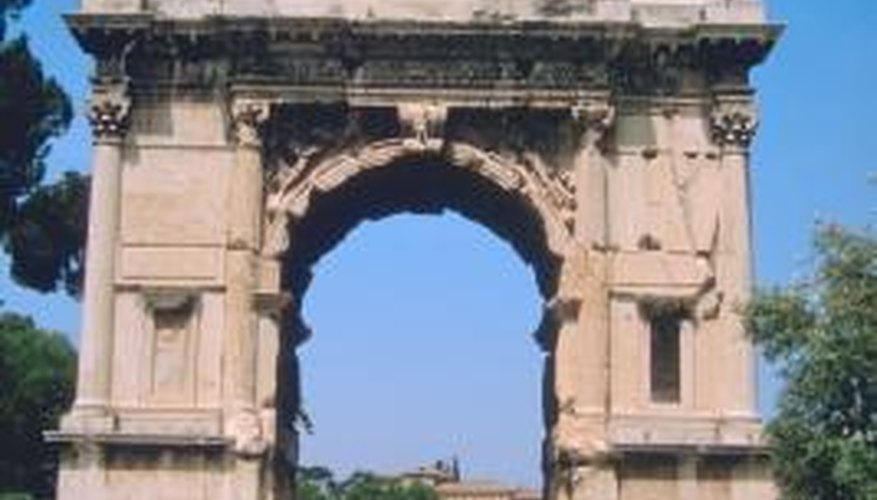 Pollution on the Arch of Titus has decreased.