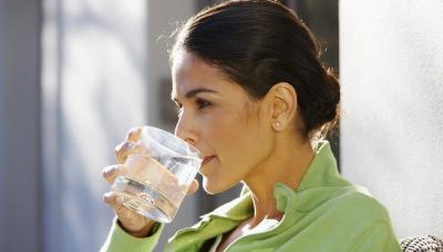 Drink at least eight 8-oz. glasses of water daily.
