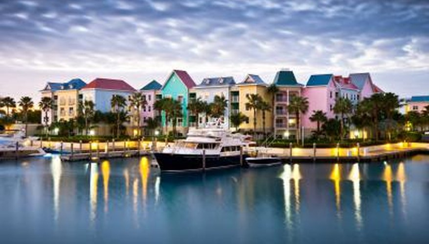 Caribbean harbor marina homes