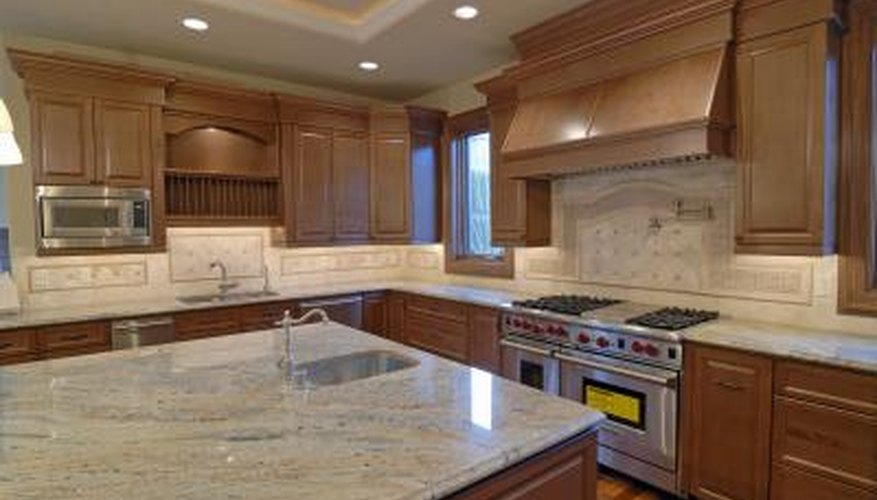Granite countertops in a modern kitchen