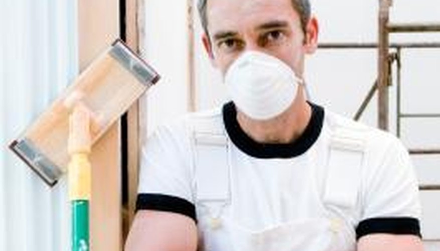 An N-95 respirator can be purchased from any hardware or paint store.