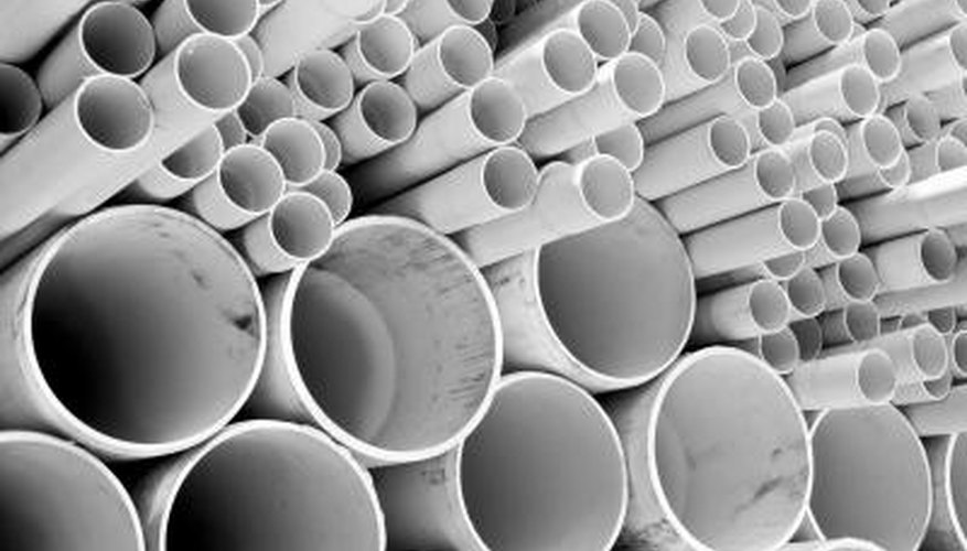 PVC pipes come in many different sizes and types.