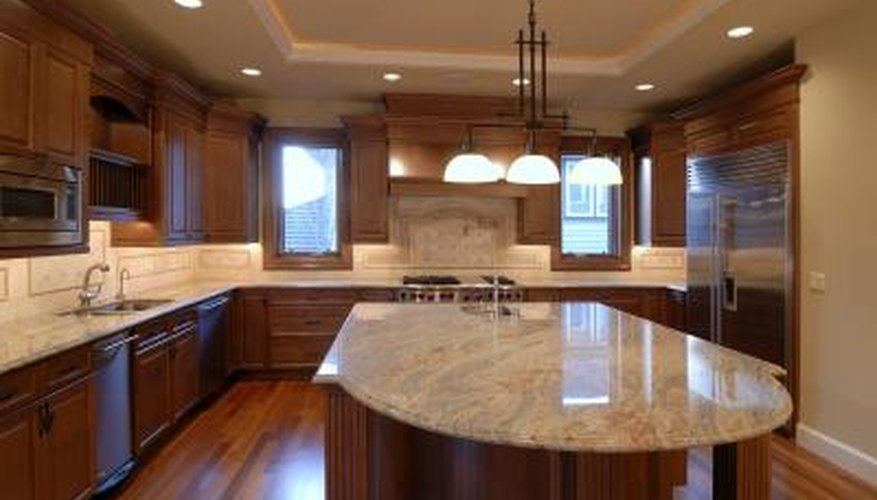 Granite is a stone made from volcanic activity.
