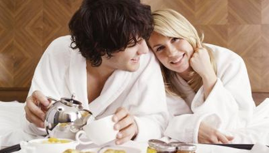 Small but meaningful gestures, like breakfast in bed, are all indications your man has strong feelings for you.