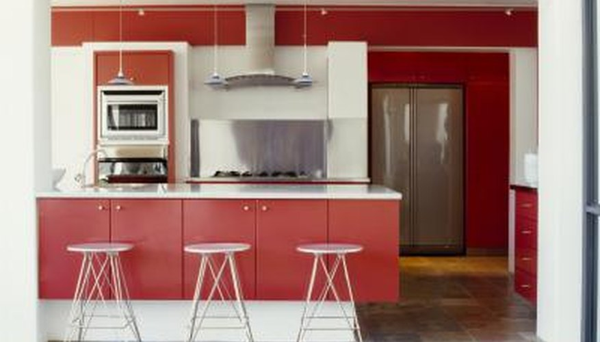Solid, bold colors add depth to your kitchen.