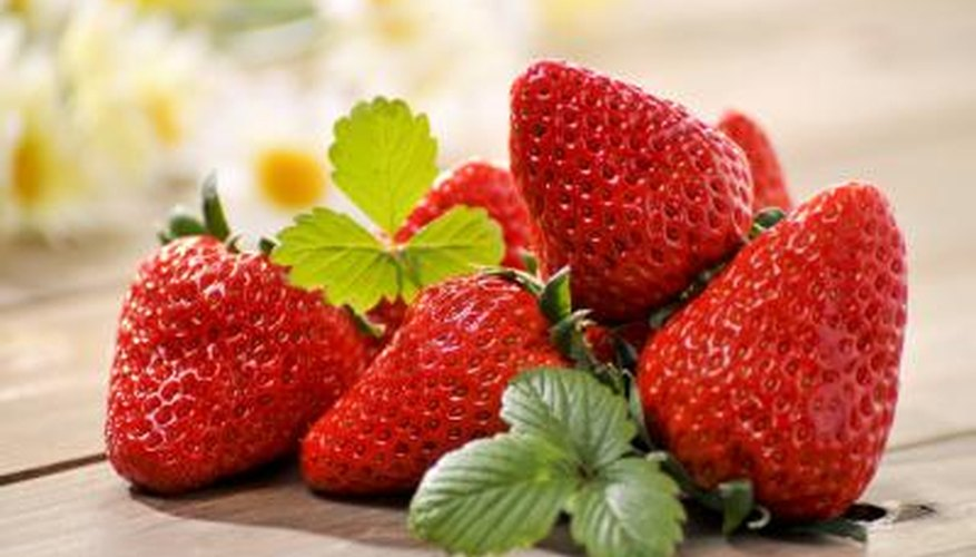 Strawberries are high in vitamin C.