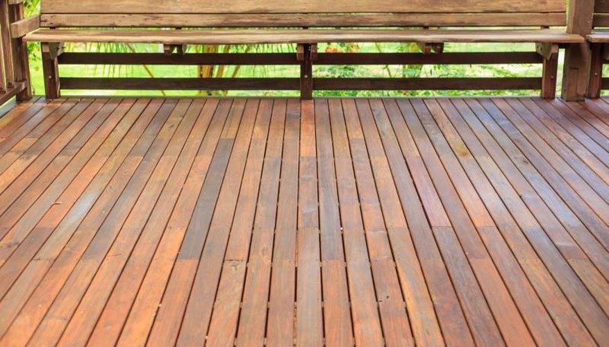 Red oak patio decking