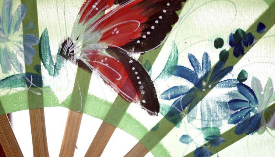 Butterfly on fan