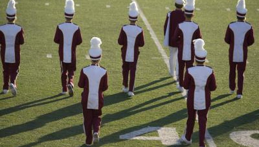 Marching  band at halftime