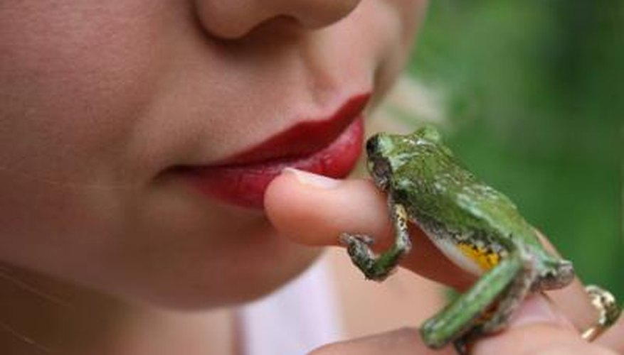 Humans and frogs both inhale and exhale through the mouth.